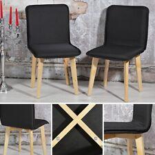 Stuhl Esszimmerstuhl Stühle Küchenstuhl 2 Set schwarz Hochlehner Lehnstuhl