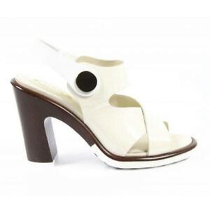 Tod's Sandalo Bottone, White Leather, Women Size 41 (11 US) $720 ITALY NEW