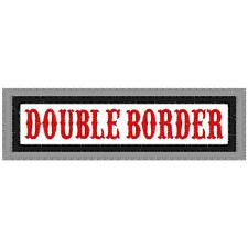 CUSTOM EMBROIDERED MOTORCYCLE DOUBLE BORDER NAME PATCH