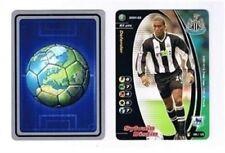 Los asistentes Premier League 2001-02 Newcastle United Sylvain Distin Fútbol Tarjeta