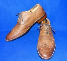 GREAT 10.5 M COLE HAAN LONDON TAN ANTQ FINISH WINGTIP GRAND.OS OXFORD MENS SHOE