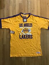 Mitchell & Ness Los Angeles Lakers Yellow Purple T Shirt Size XXL