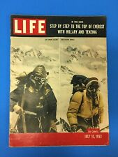 LIFE Magazine July 13 1953 Step by Step to Top of Everest Sir Edmund Hillary