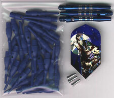 """""""The Lone Wolf"""" Soft Tip Dart Upgrade Kit: BlueTips, Slim Wolf Flights and More"""