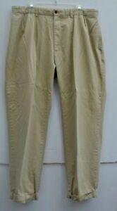 MENS AMERICAN LIVING DRESS SLACKS 40 X 32 Tan