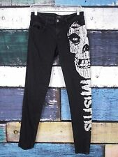 Iron Fist Hot Topic Black The Misfits Skull Goth Punk Skinny Jeans Pants 7