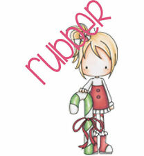 CC Designs Cling Rubber Stamp Peppermint P3 candy cane Christmas whimsical cute