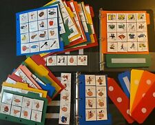 2 BOOKS PLUS 400+ COMMUNICATION CARDS WITH ASL SPEECH AUTISM THERAPY BOARDMAKER