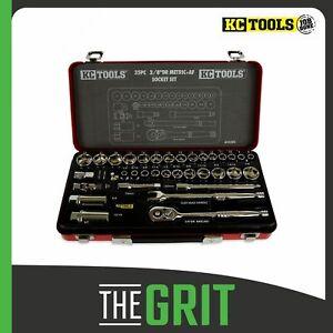"""KC Tools Socket Set 35pc 3/8"""" Drive Metric & AF Socket Set - A13258"""