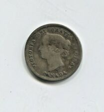 1885 Canadian Five Cent Silver Coin Good (CTL1118)