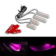 Pink Car Door Bowl Handle LED Ambient Atmosphere Light Interior Accessories