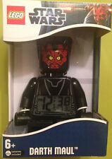 LEGO Star Wars Darth Maul Mini-Figure Kids Alarm CLOCK 9005596 NEW!
