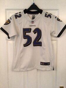 Teens Baltimore Ravens NFL Away Jersey - No 52 R.Lewis Size M