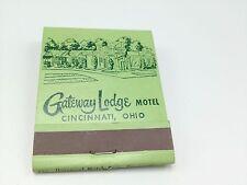 Gateway Lodge Motel Matchbook Front strike unstruck Reading Rd Cincinnati Oh