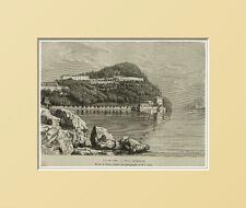 ITALIA: VEDUTA LAGO DI COMO - VILLA SERBELLONI.PIEMONTE = In Passpartout=1883