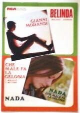 Musica Spartito - Belinda - G. Morandi - Che male fa la gelosia - Nada - 1969