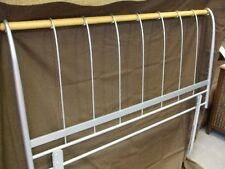 BRAND NEW. AURORA SILVER METAL & WOOD 5ft KING SIZE BED 150cm HEADBOARD