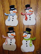 Snowman Snowmen Snow Winter Christmas Die Cuts (Toppers/Scrapbooking)