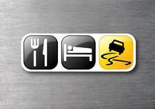 Eat sleep drift quality 7 year vinyl  car jdm drift v8  shift