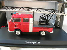 SCHUCO 1/43 CAMION POMPIER VW VOLKSWAGEN T2A DOUBLECABINE GRANDE ECHELLE !!!!