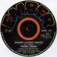 "DIANA TRASK ~ BEHIND CLOSED DOORS ~ 1974 UK ""PROMO"" 7"" SINGLE ~ EMBER EMBS 330"
