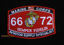 MOS 6672 HAT PATCH AVIATION SUPPLY SPECIALIST US MARINES VET PIN UP MCAS FMFMAW