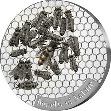 1 Ounce Silver Prooflike Benefit of Nature - Honey Bee Cameroon 2019 Kamerun