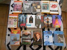 16 CASSETTE TAPES SINGLES RARE LOT BULK - james reyne, elton john,SKYHOOKS 1980s