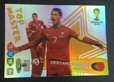 Panini Adrenalyn XL World Cup 2014 Cristiano Ronaldo Top Master card