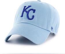 7477b866abc Kansas City Royals 47 BRAND Clean up Hat Cap Adjustable Light Blue