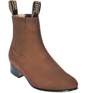 Men's Los Altos Genuine Suede Charro Ankle Boots Handmade