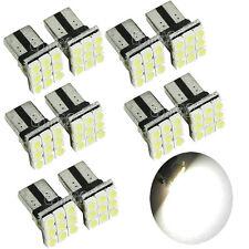 10 X T10 2825 192 194 168 W5W LED 9 SMD Car License Plate Light Tail Bulb White