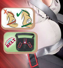 Red TRIPLE SUPPORT ADVANCED MATERNITY PREGNANCY SEAT BELT BAND CAR BABY SAFETY