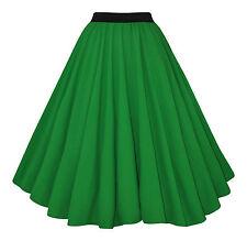 Vintage 40's 50's Rockabilly Full Circle Green Crepe Jive Swing Skirt New 8 - 20