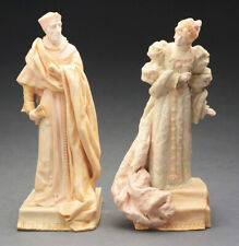 Royal Doulton Cardinal Wolsey & Queen Catherine Figurines / c.1890s Noke / Vg A-