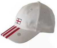 adidas 3 Stripe Cap White Adjustable Authentic Official England 06 Flag Logo Hat