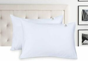 800 Thread Count Egyptian Cotton White Pair Of Housewife Pillowcases