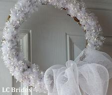 Wedding Floral Wreath, Bridal Shower Wreath, Bridal Shower Decorations, White
