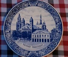 """11.8"""" Vintage Dutch Plate Wall Charger Delft Blue &White of Vrijthof Maastricht"""