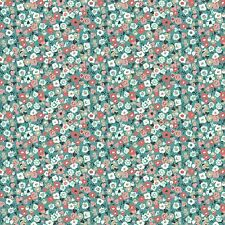 Flo's Garden Ditsy Small Flower Floral 100% Cotton Fabric by Makower  FQ
