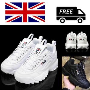 FILA Disruptor White/Black Women's Fashion Athletic Shoes Sneakers EU Size 36-44
