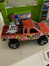 Hot Wheels 1987 Casting Orange Nissan King Cab Pickup Diecast Signs 1:6