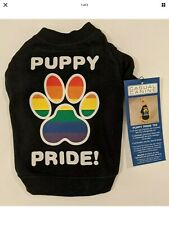 Puppy Pride T-Shirt For Pets Sz. Large Rainbow Gay Pride New With Tags