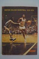 Vintage Basketball Media Press Guide Boston College University 1974 1975
