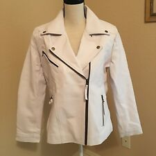 White Coat Jacket Faux Leather - Please Read For Size