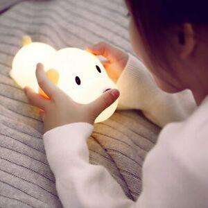 Silikon Hund Nachtlampe Baby Kinder Geschenk Touch LED Nachtlicht Tischleuchte