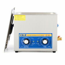 Commercial 10l Ultrasonic Cleaner With Timer Stainless Steel Jewelry Glasses