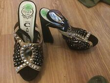 JEFFREY CAMPBELL WOMENS UK SIZE 4 BLACK HIGH HEELED SHOES (EX CONDITION)