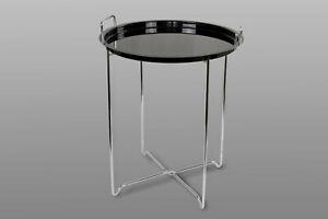 Beistelltisch Tablettisch Funktionstisch Klapptisch Tablet Tisch T219 Schwarz