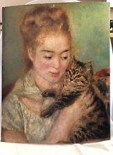 Vintage 1960s Renoir Print Woman with Cat